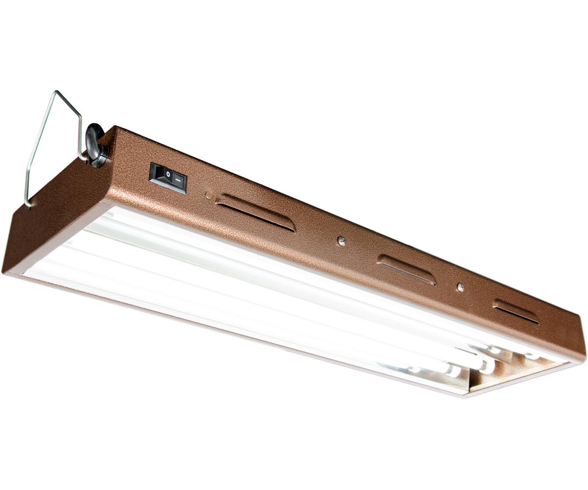 T5 Designer 2Ft 2 Tube Fixture w/ Bulbs