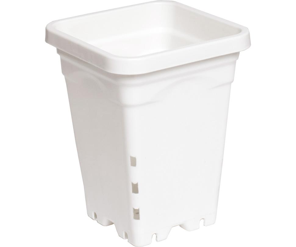 """5""""x5"""" Square White Pot, 7"""" Tall, 100 per case"""