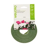 "Velcro Plant Ties 45'x0.5"" Green, pack of 6"