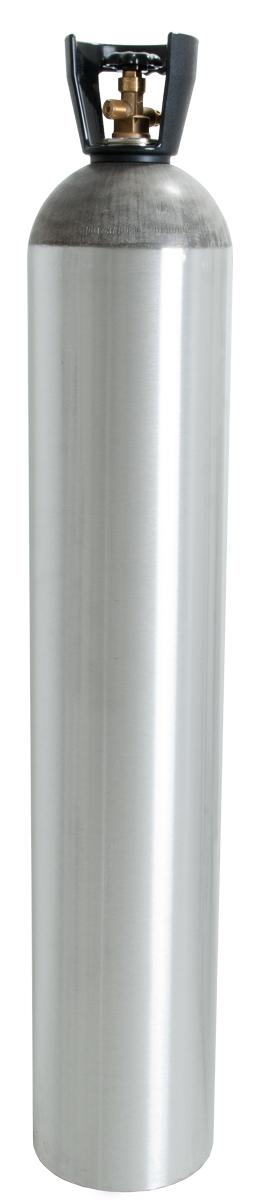50LB C02 CYLINDER W/ 320 VALVE & BLACK HANDLE