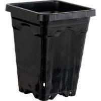 "5""x5"" Square Black Pot 7"" Tall, 100 per case"