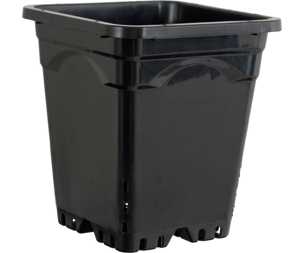 "12""x12"" Square Black Pot 12"" Tall, 24 per case"