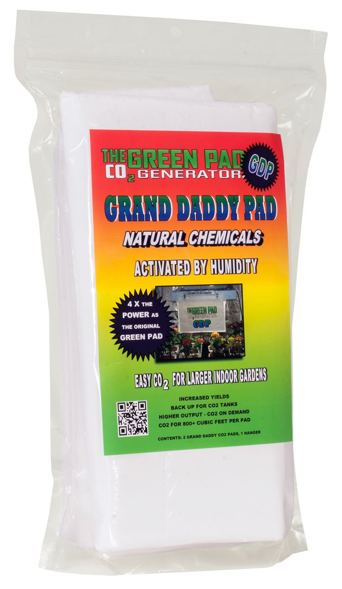 Green Pad CO2 Grand Daddy Pad, pack of 2 w/ 1 Hanger