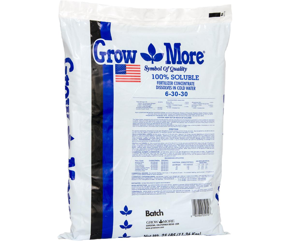 Grow More 6-30-30 STD 25lb