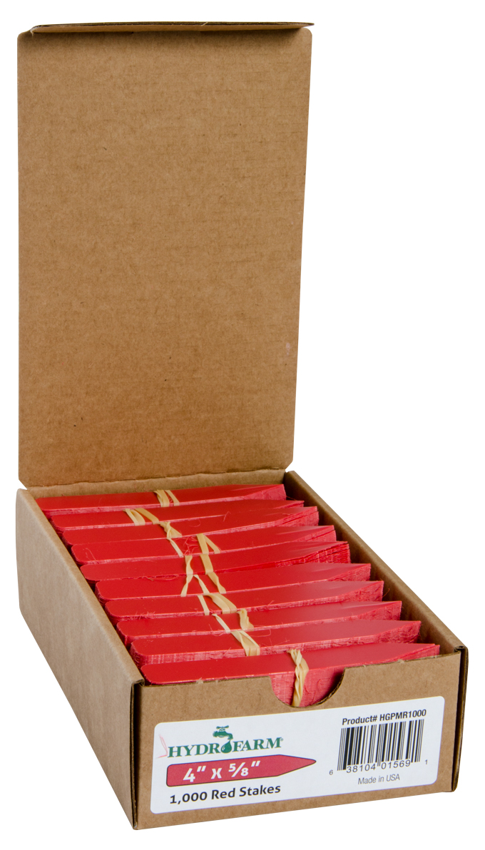 """Plant Stake Labels Red 4""""x5/8"""" 1000/CS"""