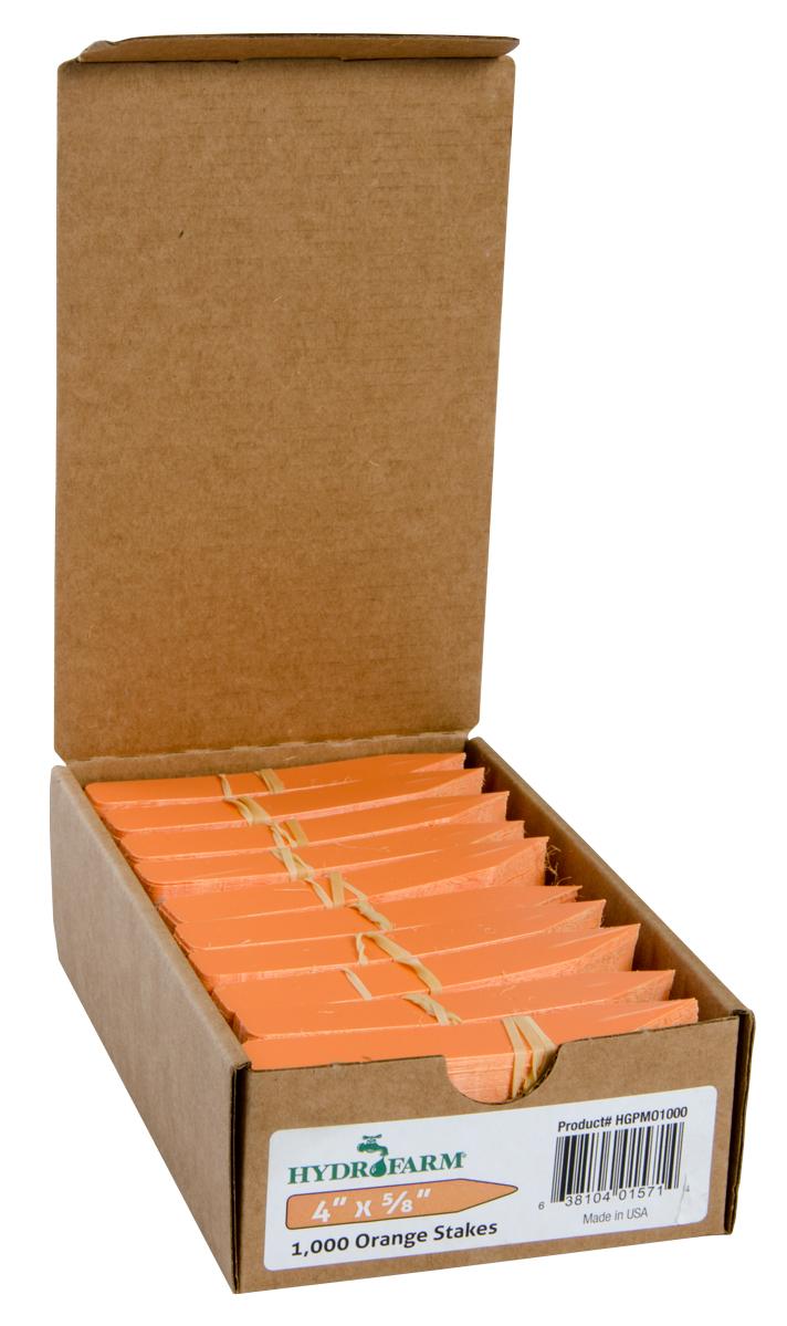"Plant Stake Labels Orange 4""x5/8"" 1000/CS"