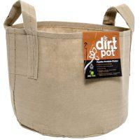 Dirt Pot Tan 100 Gal w/Handle (5/pk) (10/cs)