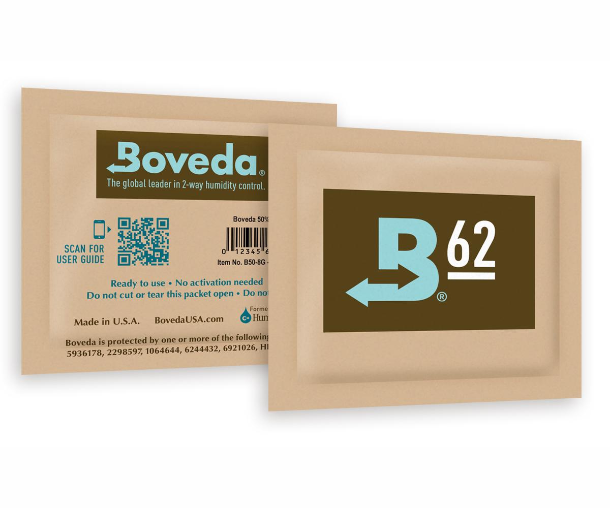 Boveda 62% RH (8 grams) -- bulk (300 packets/case)