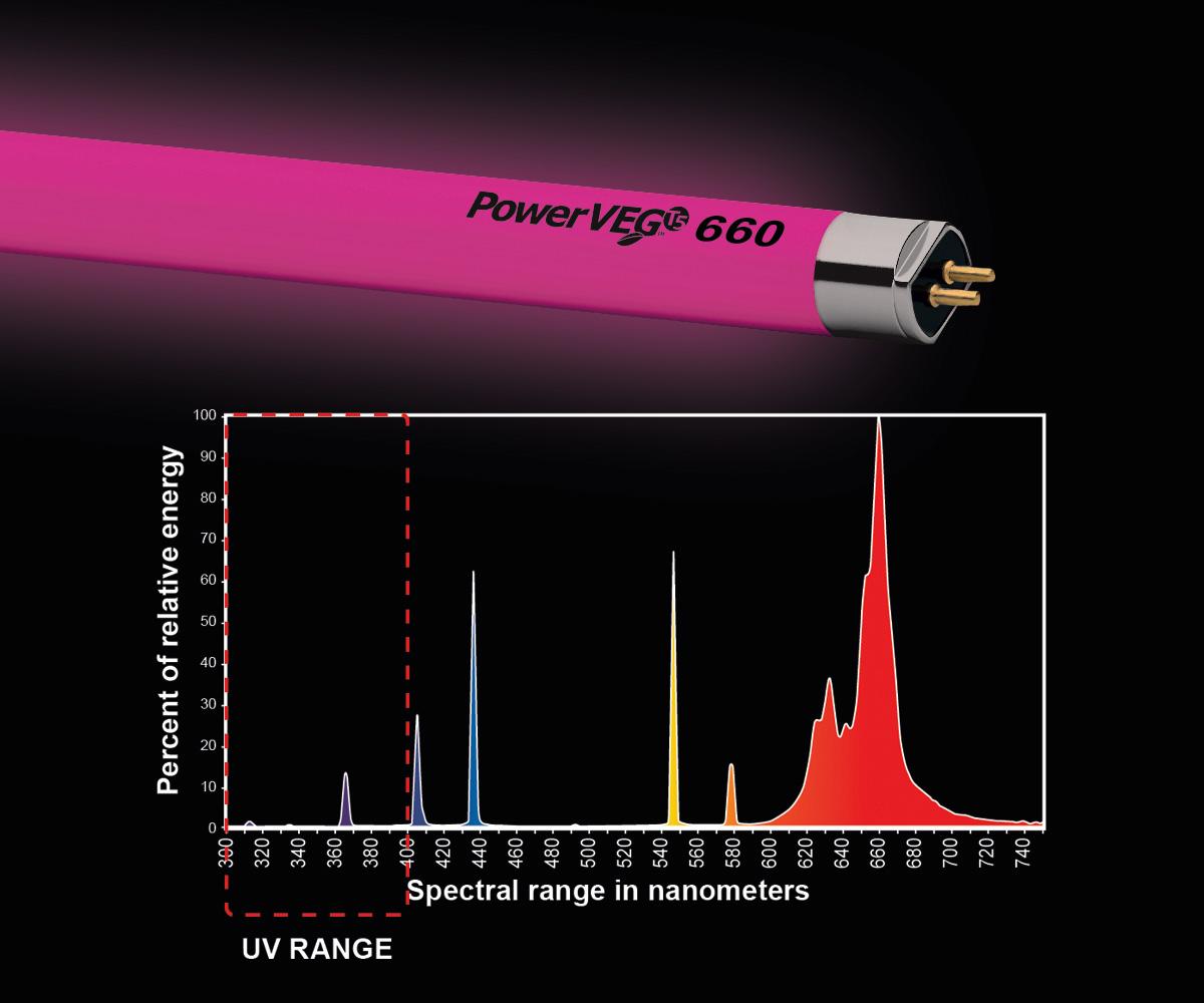 PowerVEG T5 2' 660 Red (24/cs)