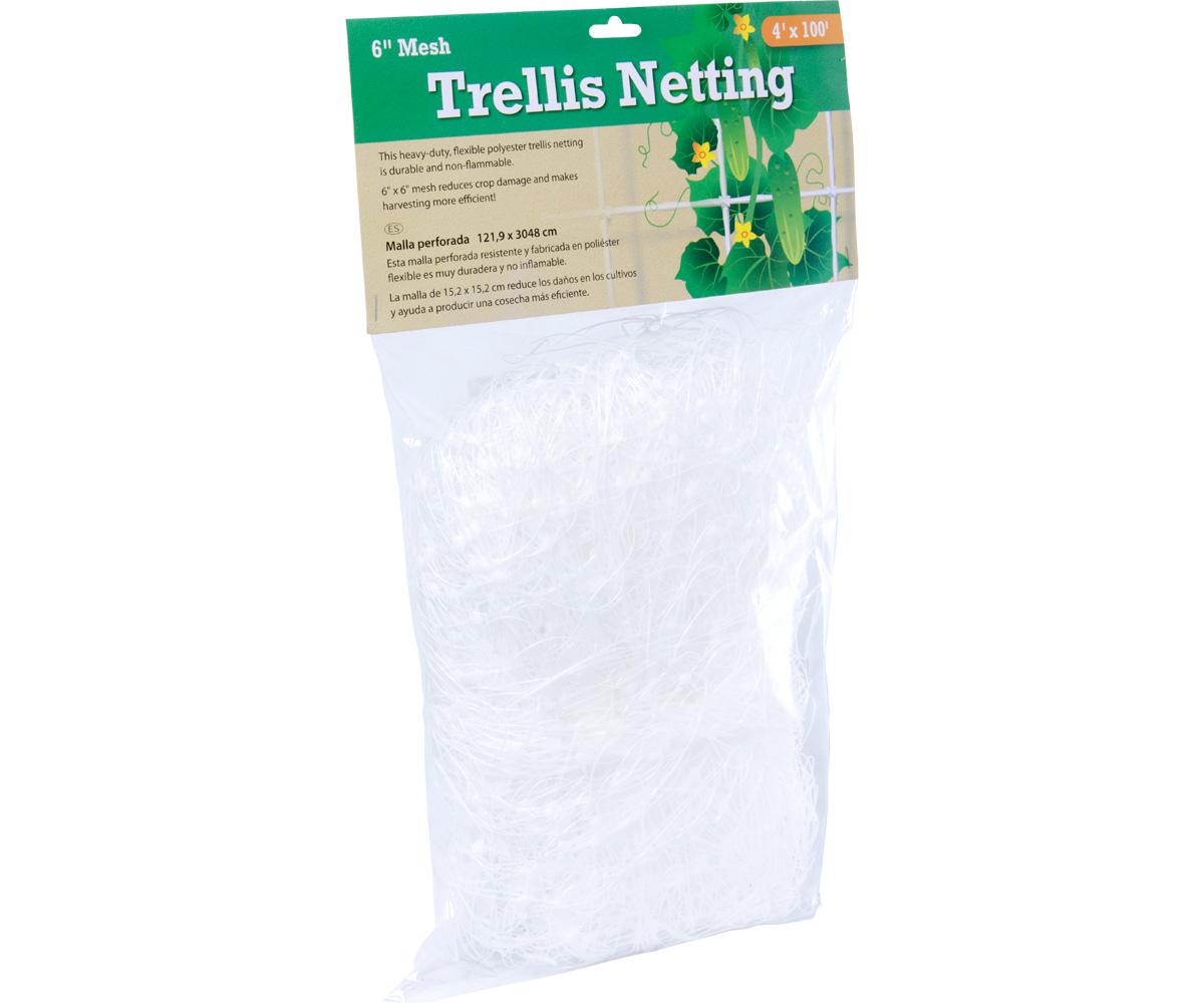 "Trellis Netting 6"" Mesh, 4' x 100'"