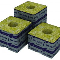 """Delta 8 Block, 4""""x4""""x3"""", with hole, case of 180"""