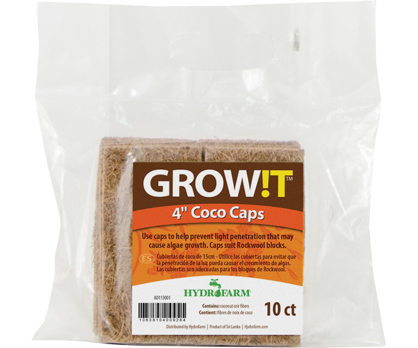 """GROW!T Coco Caps, 4"""", pack of 10"""