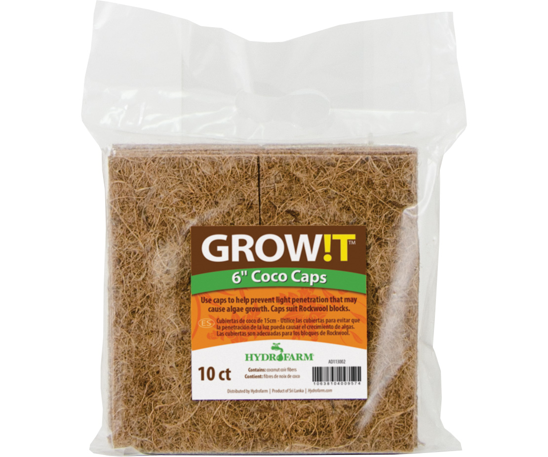 """GROW!T Coco Caps, 6"""", pack of 10"""