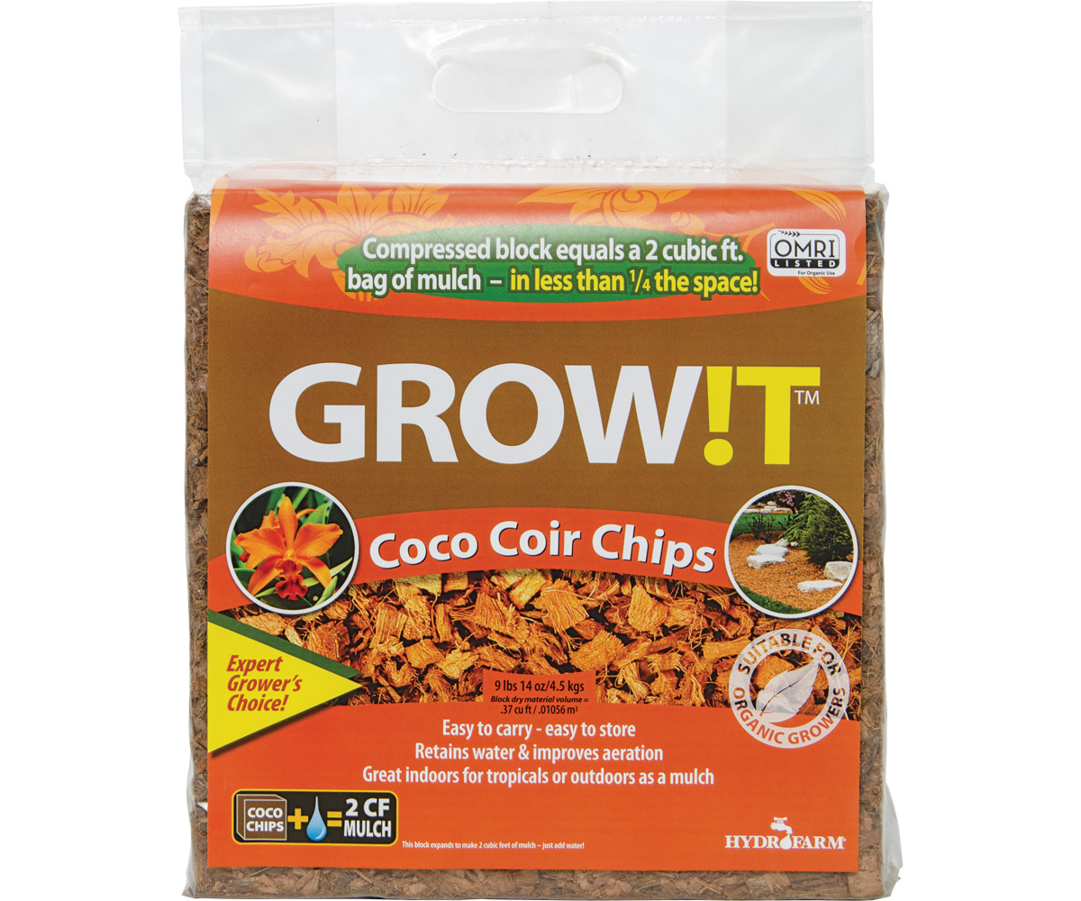 GROW!T Organic Coco Coir Chips, Block