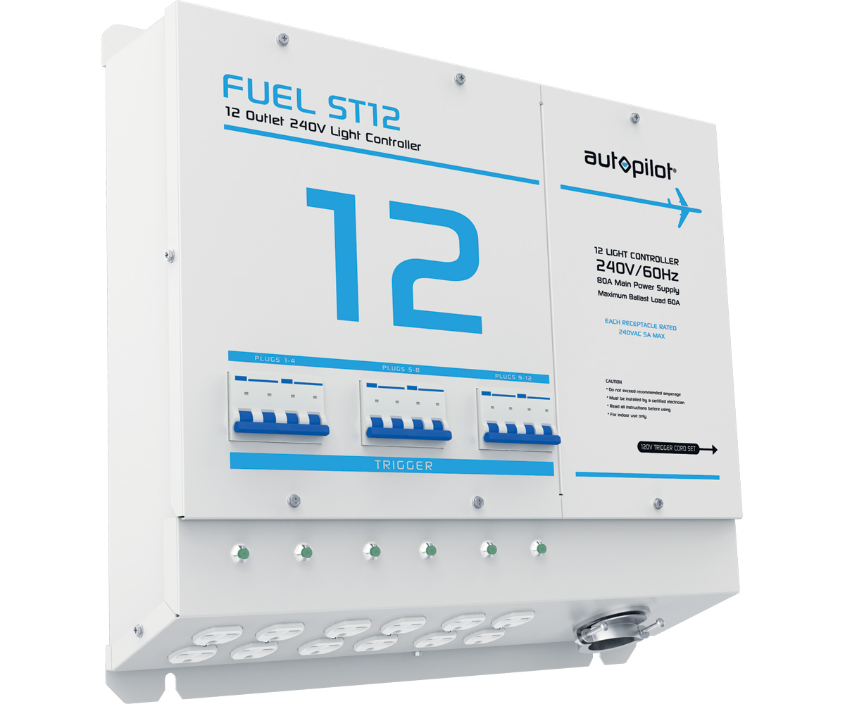 FUEL ST12 Light Controller - 12 Outlet, 240v w/Sin