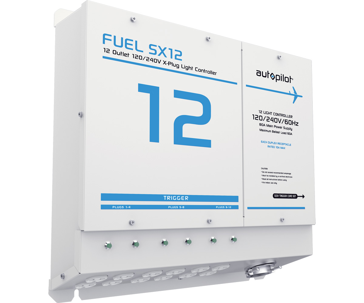 FUEL SX12 - 12 outlet, X-Plugs (120/240v) w/Single