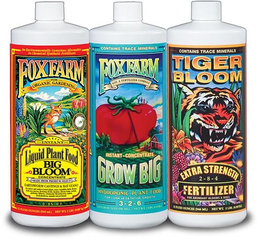 Nutrient Trio-Hydro Formula, 3 - 1 qt bottles