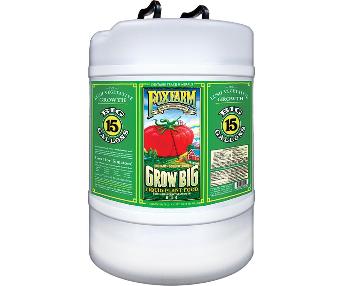 Grow Big Liquid Concentrate, 15 gal