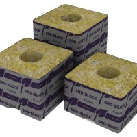 "Grodan Pro Delta4 Block, 3""x3""x2.5"" w/hole, case of 384,comm"