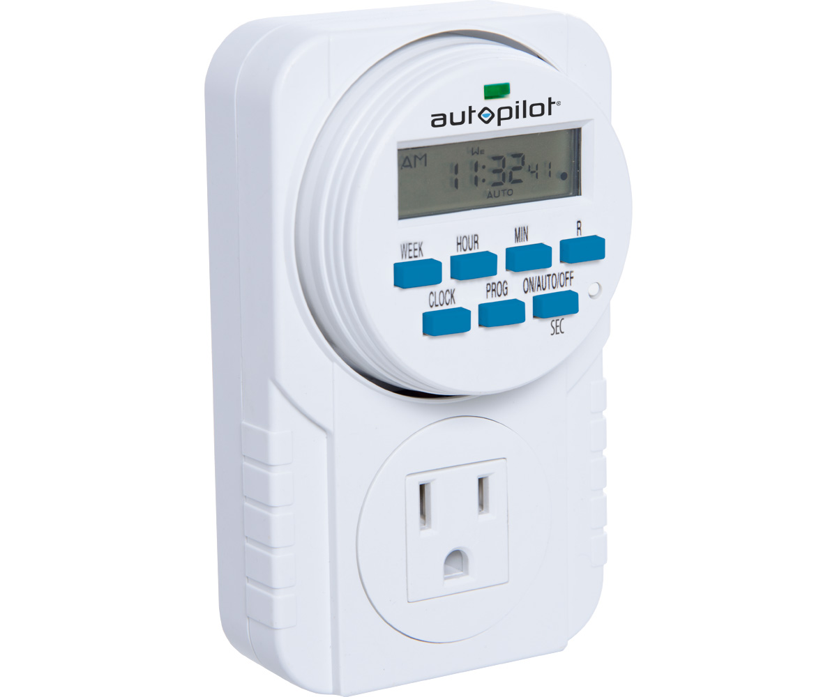 7-Day Grounded Digital Programmable Timer