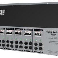 Titan Controls Spartan Series Metal 24 Light Controller 240 Volt w/ Timer - Universal Outlets