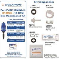 Dosatron Mini Seal Kit for D14MZ2 - 14 GPM