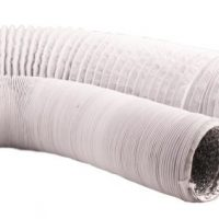 Ideal-Air White/Silver Vinyl Light Tight Flex Ducting 4 in x 25 ft