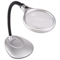 Carson Optical DeskBrite 200 - 2x LED Magnifier Lamp w/ 5x Spot Lens (2/Cs)