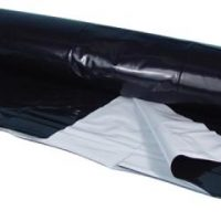 Berry Plastics Black/White Poly Sheeting Commercial Size - 5 mil 24 ft x 150 ft